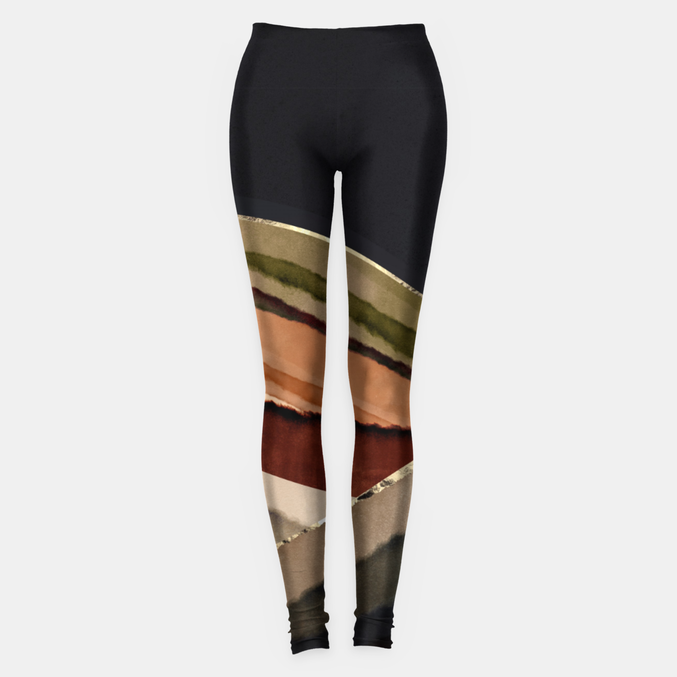 Image of Fall Abstract II Leggings - Live Heroes