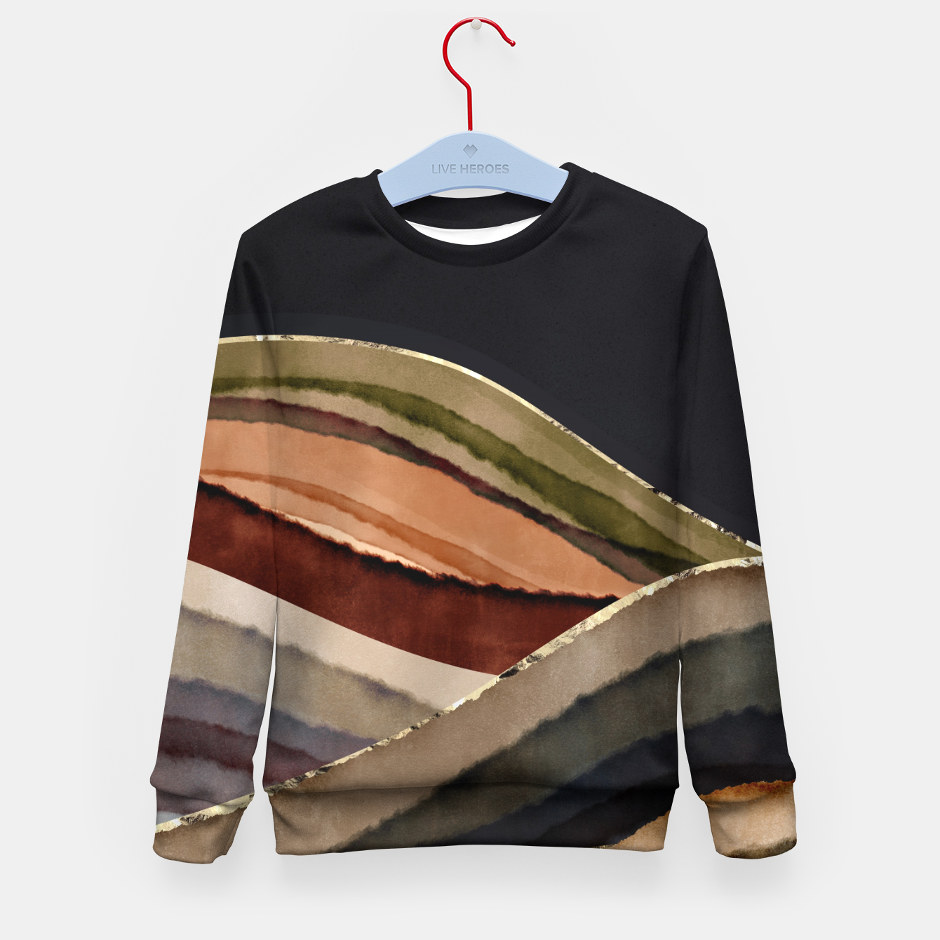 Image of Fall Abstract II Kid's sweater - Live Heroes