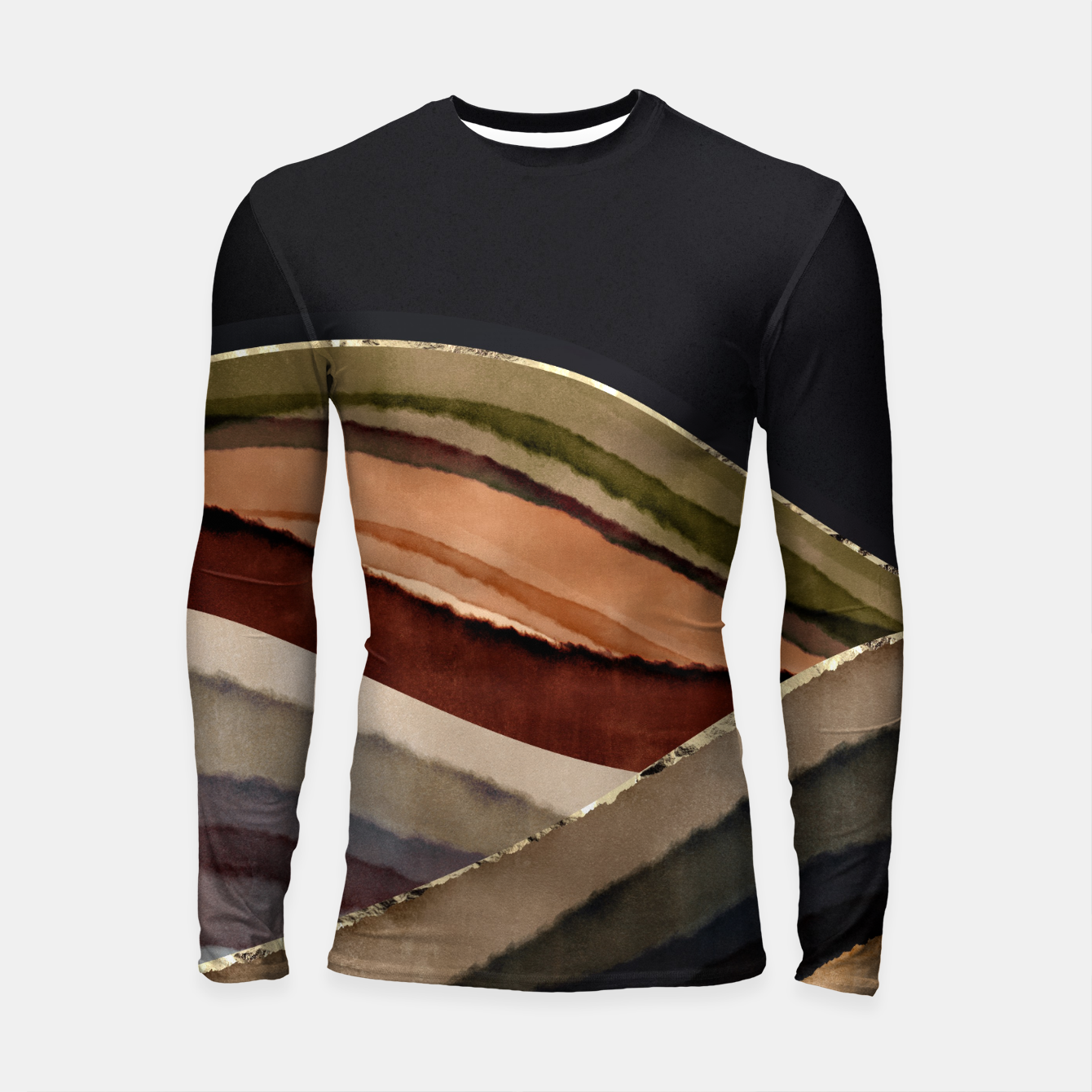Image of Fall Abstract II Longsleeve rashguard  - Live Heroes