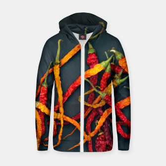 Thumbnail image of Chilling the chilli Zip up hoodie, Live Heroes