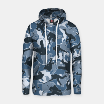 Thumbnail image of Ice Hockey Player Camo URBAN BLUE Hoodie, Live Heroes