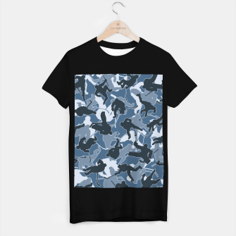 Thumbnail image of Ice Hockey Player Camo URBAN BLUE T-shirt regular, Live Heroes
