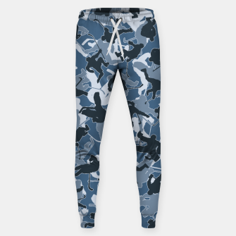 Thumbnail image of Ice Hockey Player Camo URBAN BLUE Sweatpants, Live Heroes