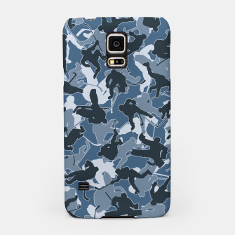 Thumbnail image of Ice Hockey Player Camo URBAN BLUE Samsung Case, Live Heroes
