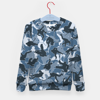 Thumbnail image of Ice Hockey Player Camo URBAN BLUE Kid's sweater, Live Heroes