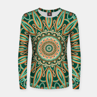 Thumbnail image of Boho-chic Mandala - AQUA - GREEN - TERRA Women sweater, Live Heroes