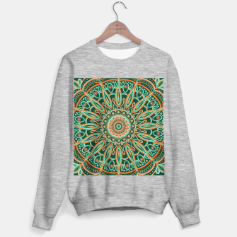 Thumbnail image of Boho-chic Mandala - AQUA - GREEN - TERRA Sweater regular, Live Heroes