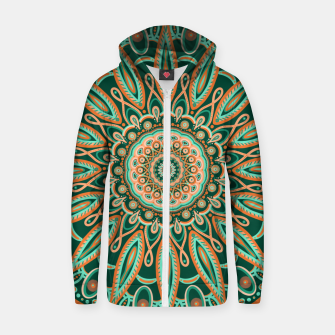 Thumbnail image of Boho-chic Mandala - AQUA - GREEN - TERRA Zip up hoodie, Live Heroes