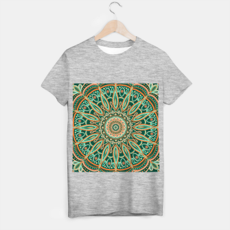 Thumbnail image of Boho-chic Mandala - AQUA - GREEN - TERRA T-shirt regular, Live Heroes