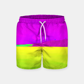 Miniatur Hikers in the Distance - Vibrant Variant Swim Shorts, Live Heroes