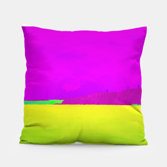 Miniatur Hikers in the Distance - Vibrant Variant Pillow, Live Heroes