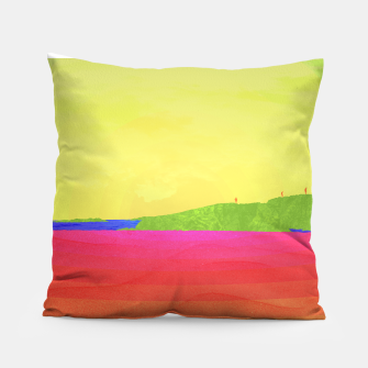 Miniatur Hikers in the Distance - Sunrise Variant Pillow, Live Heroes