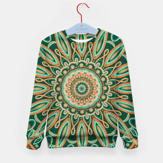 Thumbnail image of Boho-chic Mandala - AQUA - GREEN - TERRA Kid's sweater, Live Heroes