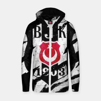 Thumbnail image of Besiktas 1903 BJK Turkey Football Club Fans Zip up hoodie, Live Heroes