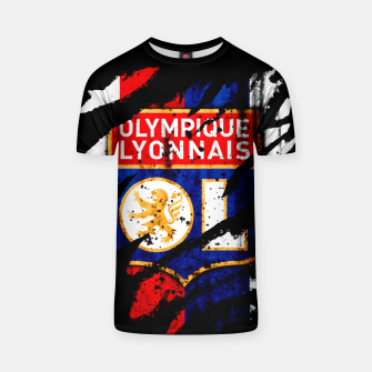 Thumbnail image of Olympique Lyonnais France Football Club Lyon Fans T-shirt, Live Heroes
