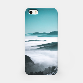 Thumbnail image of Layers of hills, fog and trees iPhone Case, Live Heroes