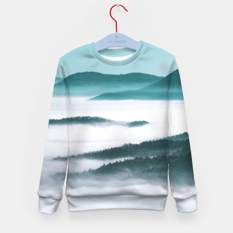 Thumbnail image of Layers of hills, fog and trees Kid's sweater, Live Heroes