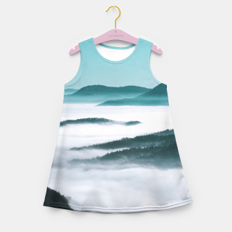 Thumbnail image of Layers of hills, fog and trees Girl's summer dress, Live Heroes