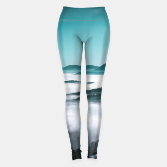 Thumbnail image of Layers of hills, fog and trees Leggings, Live Heroes
