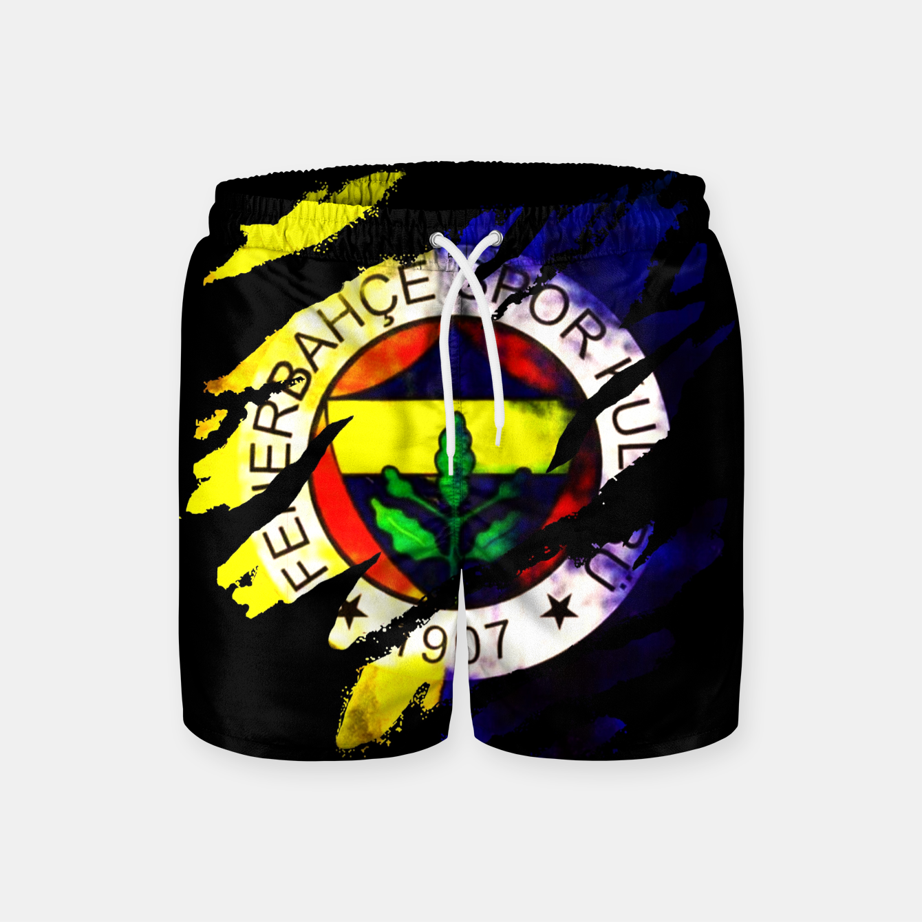 Image of Fenerbahce 1907 Turkey Football Club Fans Swim Shorts - Live Heroes