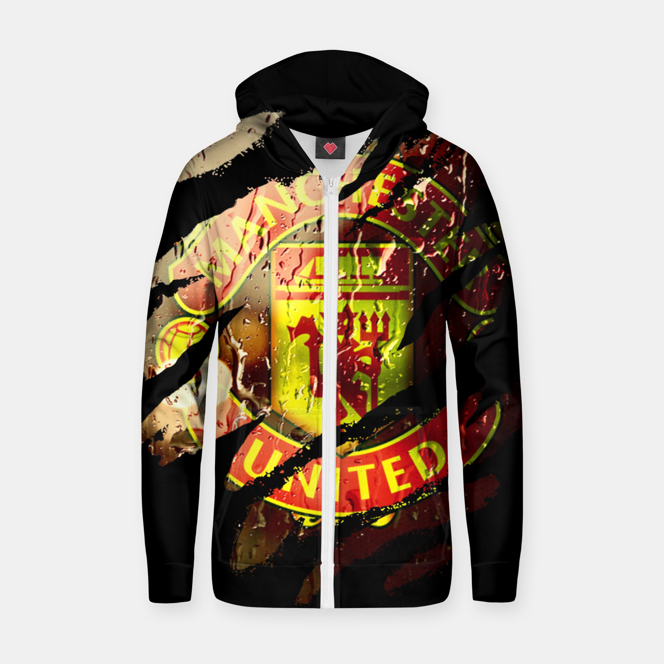 Image of Manchester United Football Club Fans  Zip up hoodie - Live Heroes