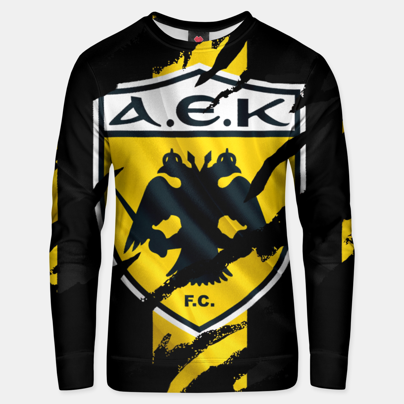 Image of AEK Athens Gate 21 Greece Football Club Fans Unisex sweater - Live Heroes