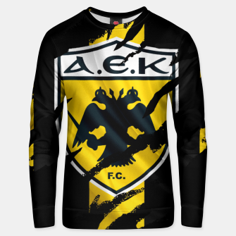 Thumbnail image of AEK Athens Gate 21 Greece Football Club Fans Unisex sweater, Live Heroes