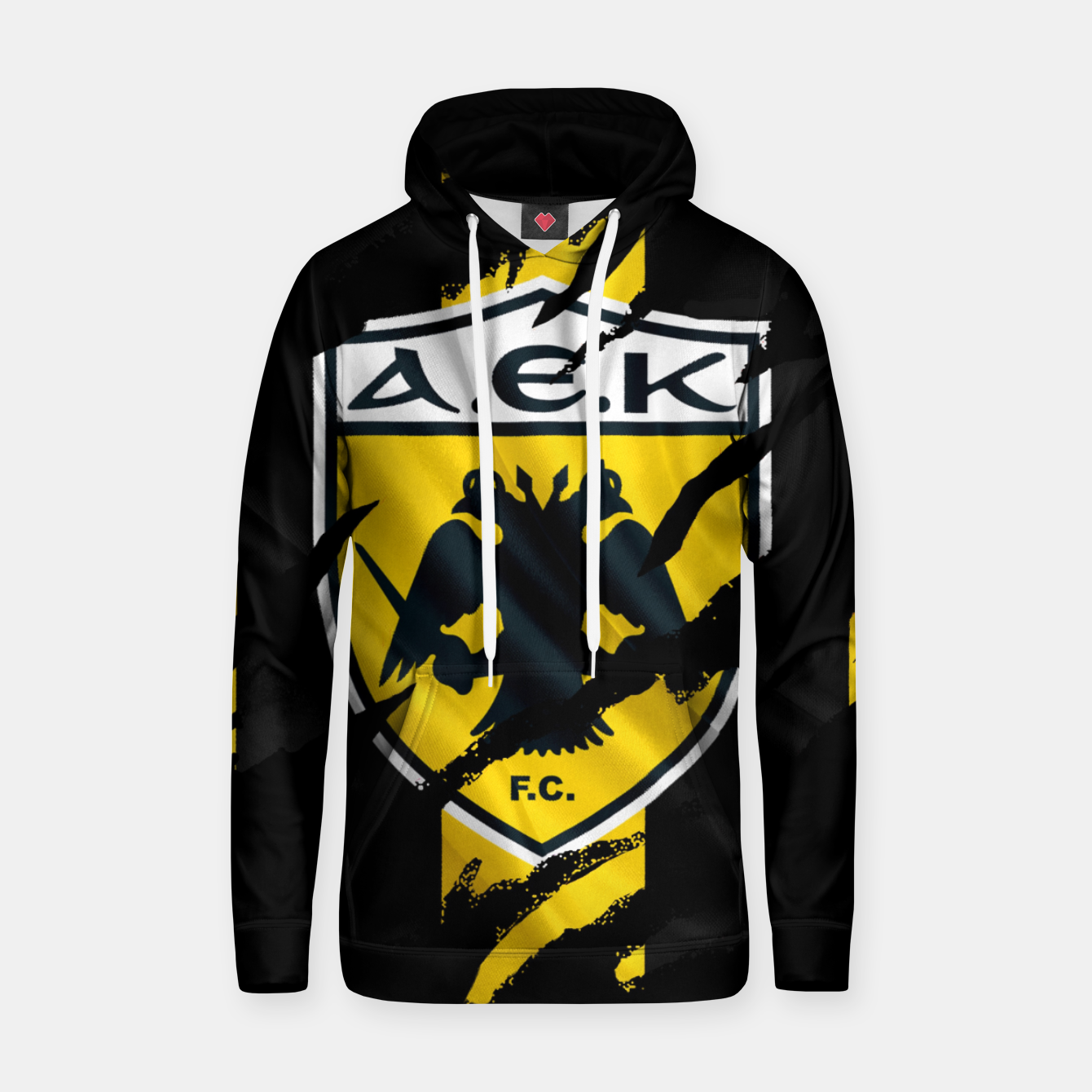 Image of AEK Athens Gate 21 Greece Football Club Fans Hoodie - Live Heroes