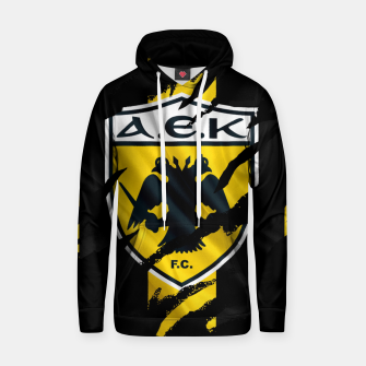 Thumbnail image of AEK Athens Gate 21 Greece Football Club Fans Hoodie, Live Heroes