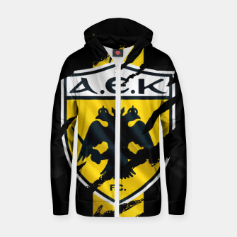 Thumbnail image of AEK Athens Gate 21 Greece Football Club Fans Zip up hoodie, Live Heroes