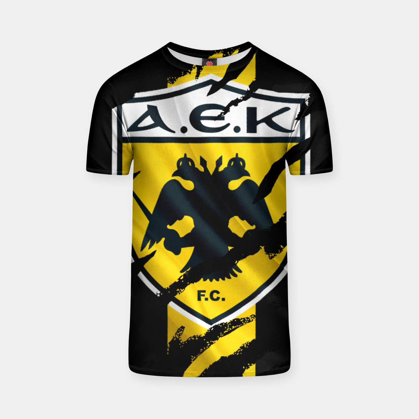 Image of AEK Athens Gate 21 Greece Football Club Fans T-shirt - Live Heroes