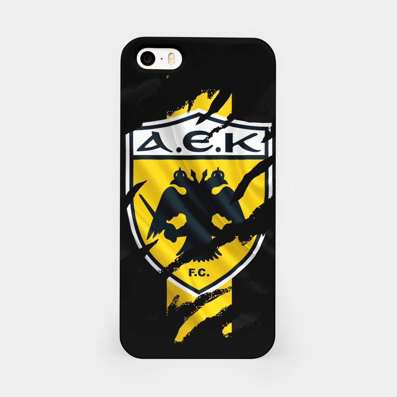 Image of AEK Athens Gate 21 Greece Football Club Fans iPhone Case - Live Heroes