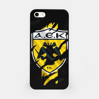 Thumbnail image of AEK Athens Gate 21 Greece Football Club Fans iPhone Case, Live Heroes