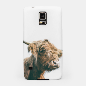 Miniaturka Majestic Highland cow portrait Samsung Case, Live Heroes