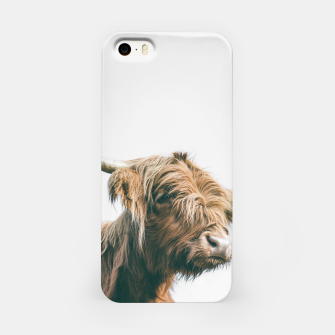 Miniaturka Majestic Highland cow portrait iPhone Case, Live Heroes