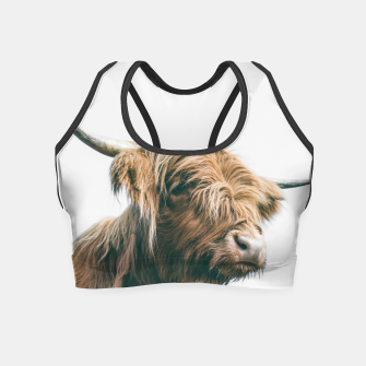 Miniaturka Majestic Highland cow portrait Crop Top, Live Heroes