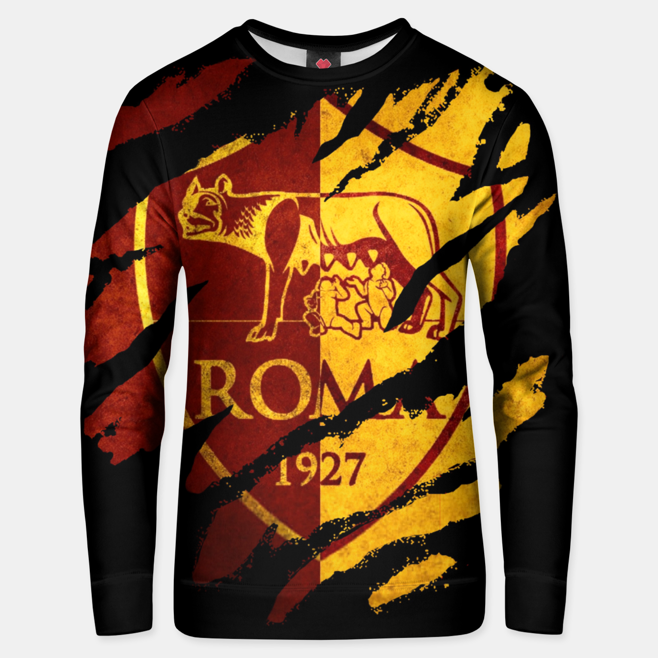 Image of Roma AC Italy Football Club Fans Unisex sweater - Live Heroes
