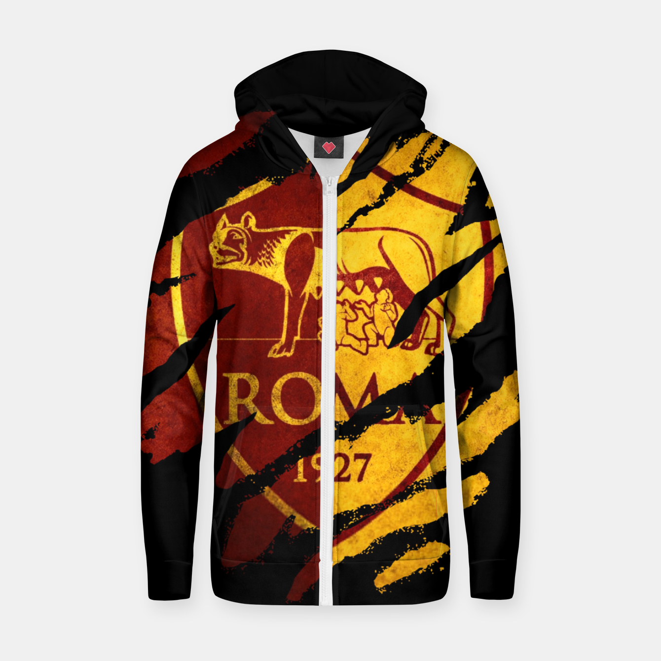 Image of Roma AC Italy Football Club Fans Zip up hoodie - Live Heroes