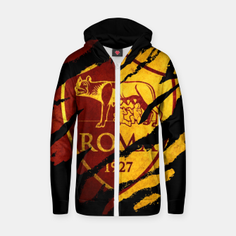 Thumbnail image of Roma AC Italy Football Club Fans Zip up hoodie, Live Heroes