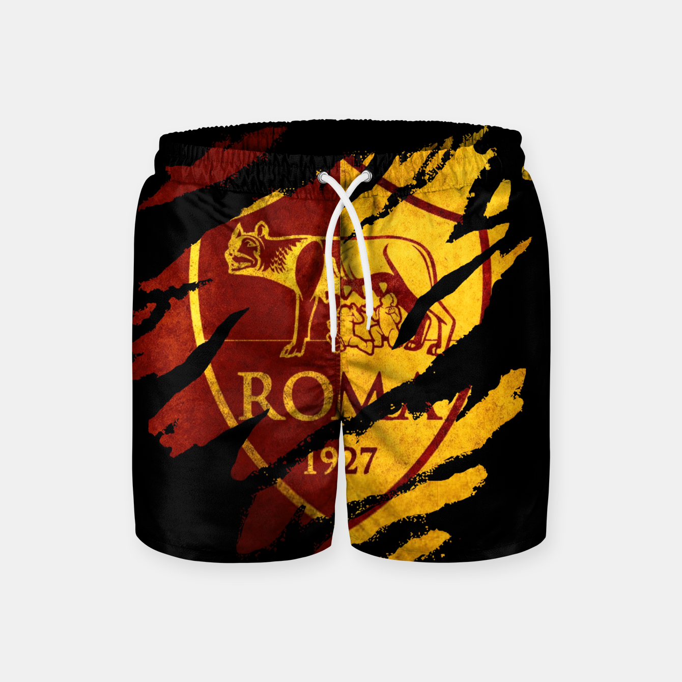 Image of Roma AC Italy Football Club Fans Swim Shorts - Live Heroes