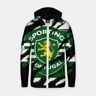 Thumbnail image of Sporting Lisboa Portugal Football Club Fans Zip up hoodie, Live Heroes