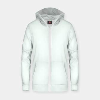 Thumbnail image of color mint cream Zip up hoodie, Live Heroes