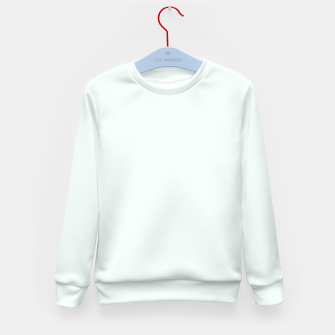 Thumbnail image of color mint cream Kid's sweater, Live Heroes