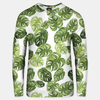 Thumbnail image of Monstera Leaves Unisex sweater, Live Heroes