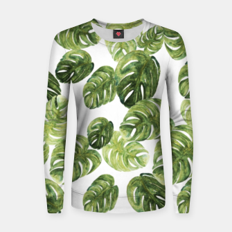 Thumbnail image of Monstera Leaves Women sweater, Live Heroes