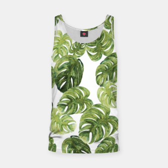 Thumbnail image of Monstera Leaves Tank Top, Live Heroes