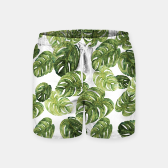 Thumbnail image of Monstera Leaves Swim Shorts, Live Heroes