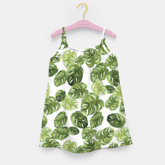Thumbnail image of Monstera Leaves Girl's dress, Live Heroes