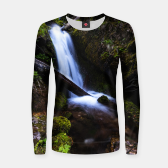 Thumbnail image of Waterfall in enchanted forest Women sweater, Live Heroes