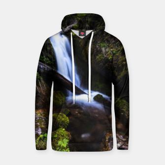 Thumbnail image of Waterfall in enchanted forest Hoodie, Live Heroes